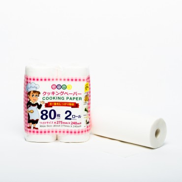 Disposable Cooking Paper - 275mm x 240mm, 2 rolls of 80's/Roll