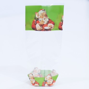 Santa Claus Cookie Bags - 100's/Box
