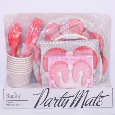 Princess Love Themed Disposable Party Set